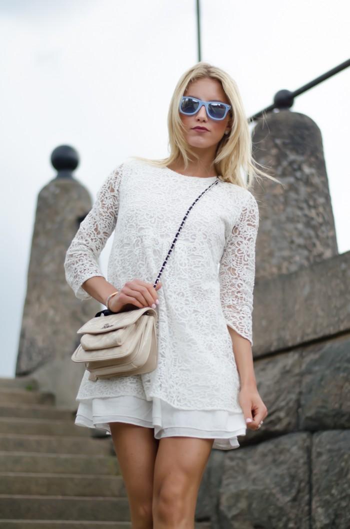 Malin vit Zara klänning-1