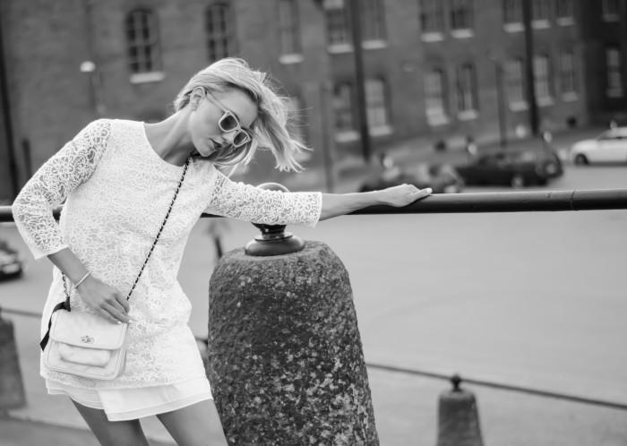 Malin vit Zara klänning-13