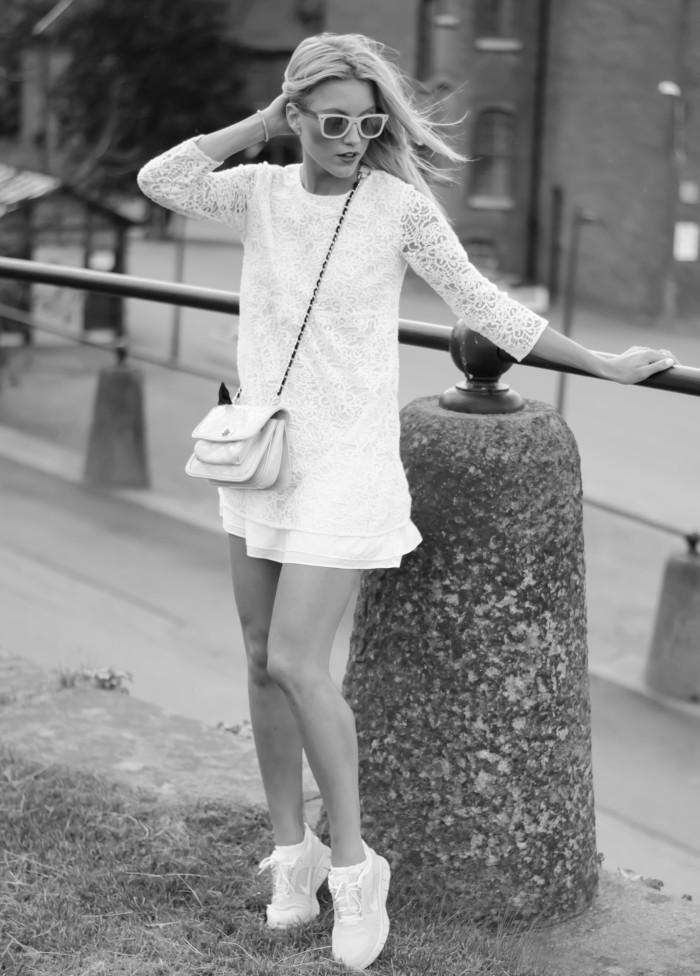 Malin vit Zara klänning-14
