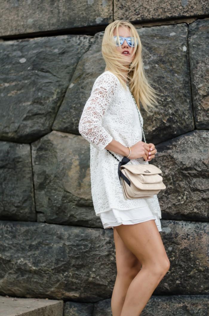 Malin vit Zara klänning-3