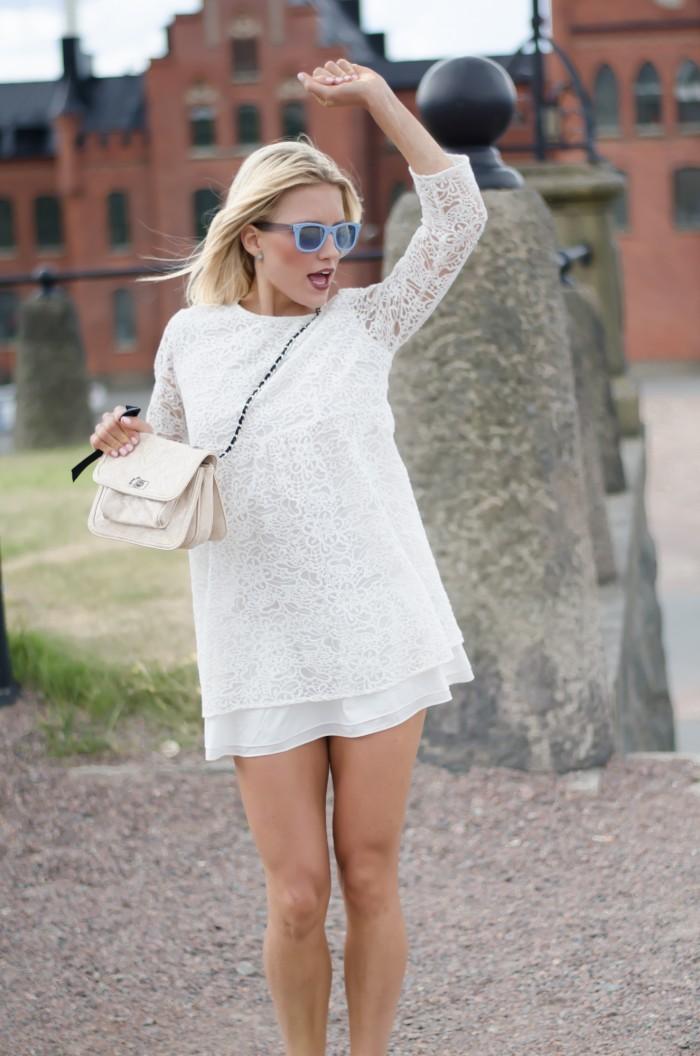 Malin vit Zara klänning-6