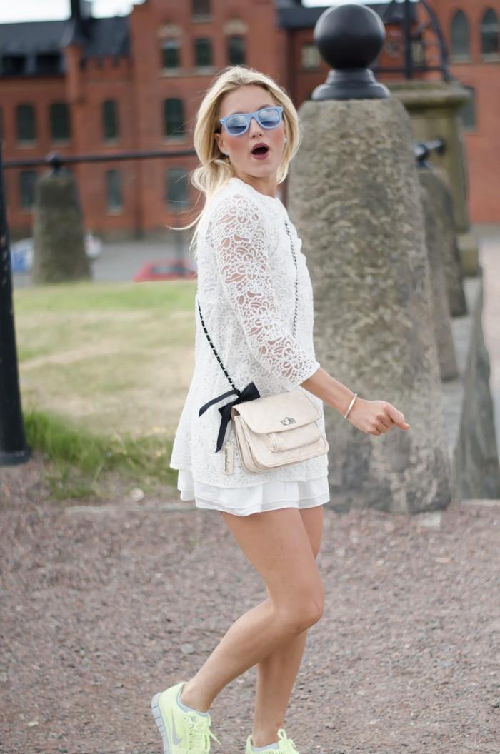 Malin vit Zara klänning-7