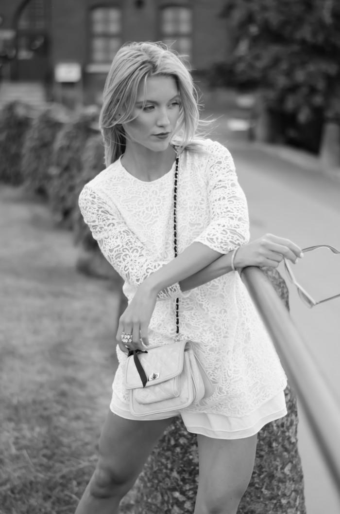 Malin vit Zara klänning-15