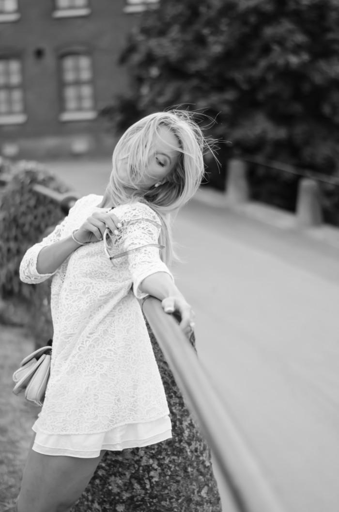 Malin vit Zara klänning-18
