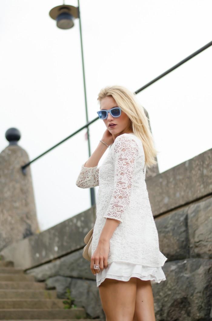 Malin vit Zara klänning-2