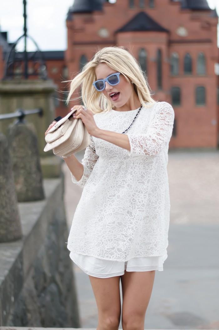 Malin vit Zara klänning-5