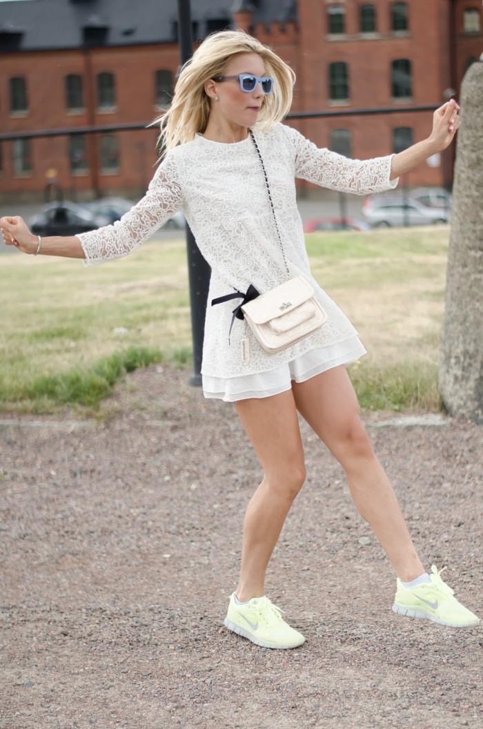 Malin vit Zara klänning-8