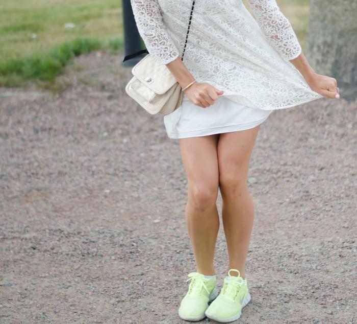 Malin vit Zara klänning-9